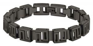 Police Edelstahl Armband Gliederarmband schwarz PJ26563BSU.02
