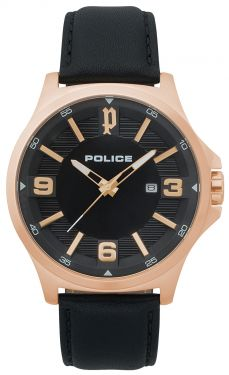 Police Herren Armbanduhr PL15384JSR.02 Lederarmband