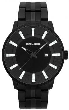 Police Armbanduhr Herrenuhr Edelstahl Black PL15391JSB.02M Datum