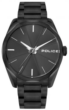 Police Armbanduhr Herrenuhr Edelstahl Uhr schwarz PL15712JSB.02M