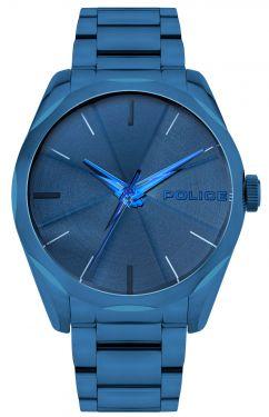 Police Armbanduhr Herrenuhr Edelstahl Uhr blau PL15712JSBL.03M