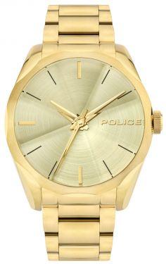 Police Armbanduhr Herrenuhr Edelstahl Uhr golden PL15712JSG.06M
