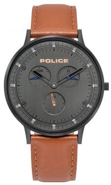 Police Armbanduhr Herrenuhr Lederband braun PL15968JSB.39
