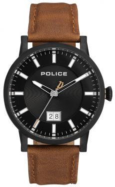 Police Herren Armbanduhr Lederarmband braun PL15404JSB.02A