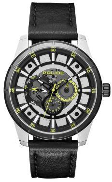 Police Armbanduhr Herrenuhr Lederarmband schwarz PL15410JSTB.04