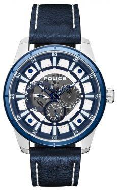 Police Armbanduhr Herrenuhr Lederarmband blau PL15410JSTBL.04