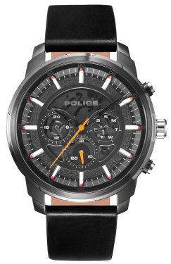 Police Herren Armbanduhr Lederarmband schwarz PL15656JSU.02