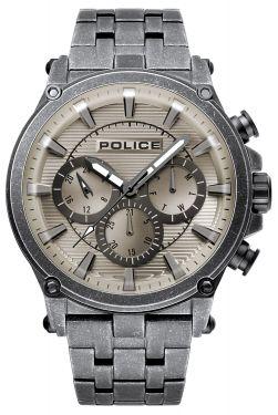 Police Herrenuhr Armbanduhr grau PL15920JSQU.20M