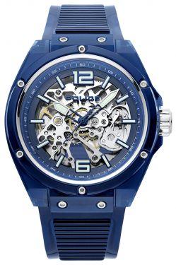 Police Armbanduhr Automatic Skelettuhr Translucent blau PL15924JPBL.48P