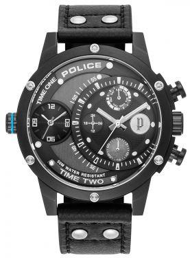 Police Armbanduhr Herrenuhr Lederband schwarz PL15983JSB.61