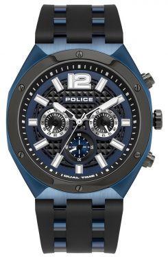 Police Herrenuhr Silikonarmband blau PL15995JSBLU.03P