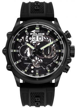 Police Herrenuhr Armbanduhr Chronograph Silikoband PL16018JSB.02P