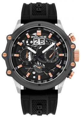 Police Herrenuhr Armbanduhr Chronograph Silikonband PL16018JSTU.13P