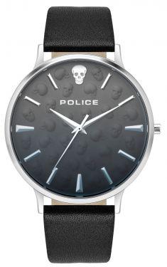 Police Herren Armbanduhr Lederarmband schwarz PL16023JS.02