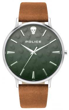 Police Herren Armbanduhr Lederarmband braun PL16023JS.13