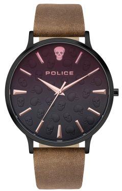 Police Herren Armbanduhr Lederarmband braun PL16023JSB.02