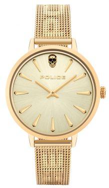 Police Damen Armbanduhr Lederband PL16028MSG.02