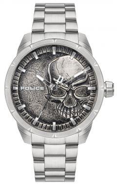 Police Armbanduhr Totenkopf Edelstahlarmband PL15715JS.78M