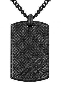 Police Halskette Edelstahlkette DogTag PJ26475PSEB.02 Herrenkette schwarz Anhänger