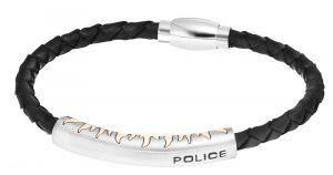 Police Lederarmband schwarz PJ25571BLRG-02-L Fury Armband Flammen