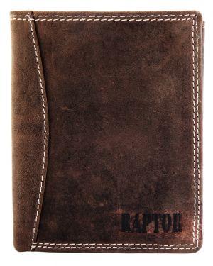 Raptor Leder Herren Geldbörse Hochformat 9x12 cm Braun 7001