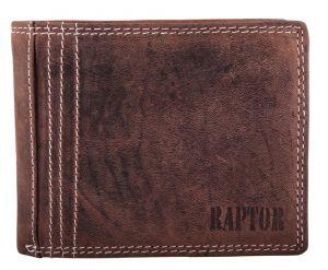 Raptor Leder Herren Geldbörse Querformat 12x10 cm Braun 7002