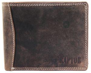 Raptor Leder Herren Geldbörse Querformat 12x10 cm Braun 7004