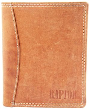 Raptor Leder Herren Geldbörse Hochformat 9x12 cm Braun 7501