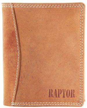 Raptor Leder Herren Geldbörse Hochformat 10x12 cm Braun 7503