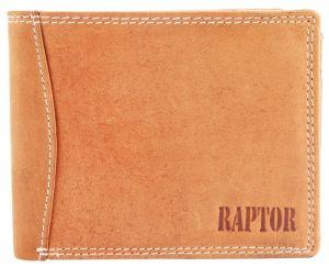Raptor Leder Herren Geldbörse Querformat 12x10 cm Hellbraun 7504