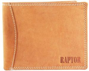 Raptor Leder Herren Geldbörse Querformat 12x10 cm braun 7505