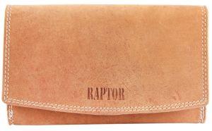 Raptor Damen Geldbörse braun Leder Querformat 17x10 cm 7506