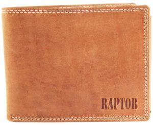 Raptor Leder Herren Geldbörse Querformat 12x10 cm Braun 7508