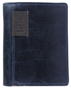 Raptor Leder Herren Geldbörse blau Hochformat 10x12 cm 3001