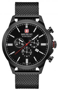 Swiss Military Hanowa Herren Armbanduhr schwarz 06-3332.13.007 Chronograph