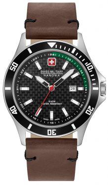 Swiss Military Hanowa Armbanduhr Herrenuhr Lederband 06-4161.2.04.007.06