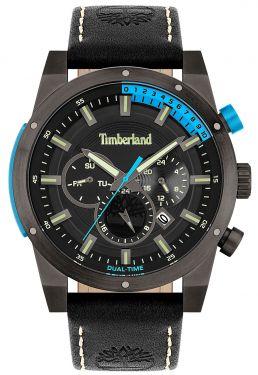 Timberland Herren Armbanduhr Multifunktion Lederband schwarz TBL15951JSU.02