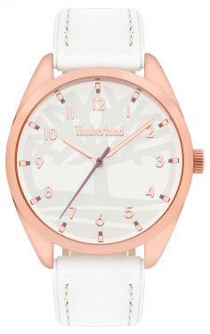 Timberland Damen Armbanduhr Lederband weiß TBL15959MYR.01