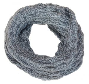 Damen Rundschal grau Viper Grobstrick Schal 25 cm breit