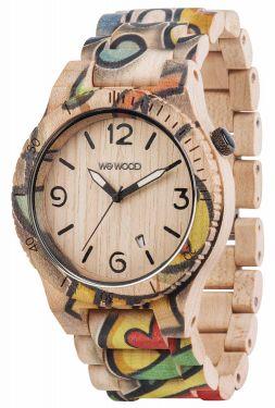 Wewood Holzuhr Alpha Woop Eyes Herren Armbanduhr WW53001