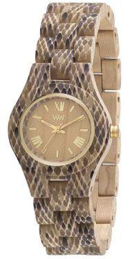 Wewood Holzuhr Damen Armbanduhr Criss Python Beige WW33004