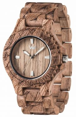 Wewood Holzuhr Uhr Armbanduhr Date Waves Nut Rough WW34004