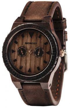 Wewood Holzuhr Herren Armbanduhr Lederarmband braun WW37005