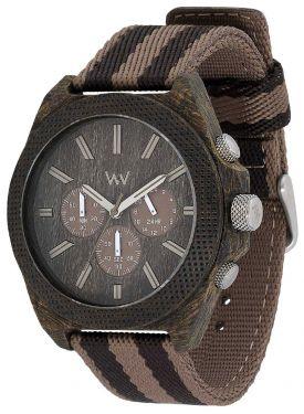 Wewood Holzuhr Herren Armbanduhr Chrono Wenge Earth WW56002