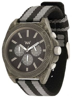 Wewood Holzuhr Herren Armbanduhr Chrono Teak Black WW56001