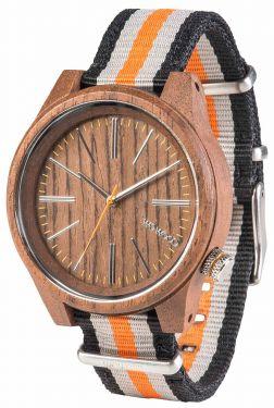 Wewood Holzuhr Armbanduhr mit Nylonarmband WW50002