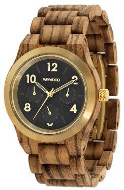 Wewood Holzuhr Damenuhr Kyra MB Zebrano gold Armbanduhr WW49003