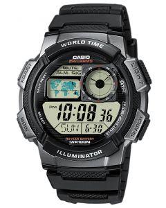 Casio Uhr AE-1000W-1BVEF Digital Uhr schwarz silber