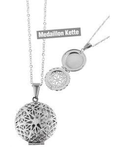 Foto Medaillon Bilder Amulett Rund Anhänger Edelstahl-Kette