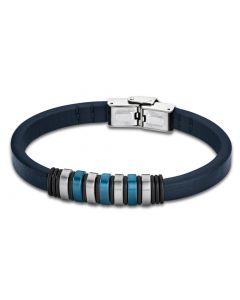 Leder Armband Unisex LS1827-2/2 Lotus Style blau 21 cm